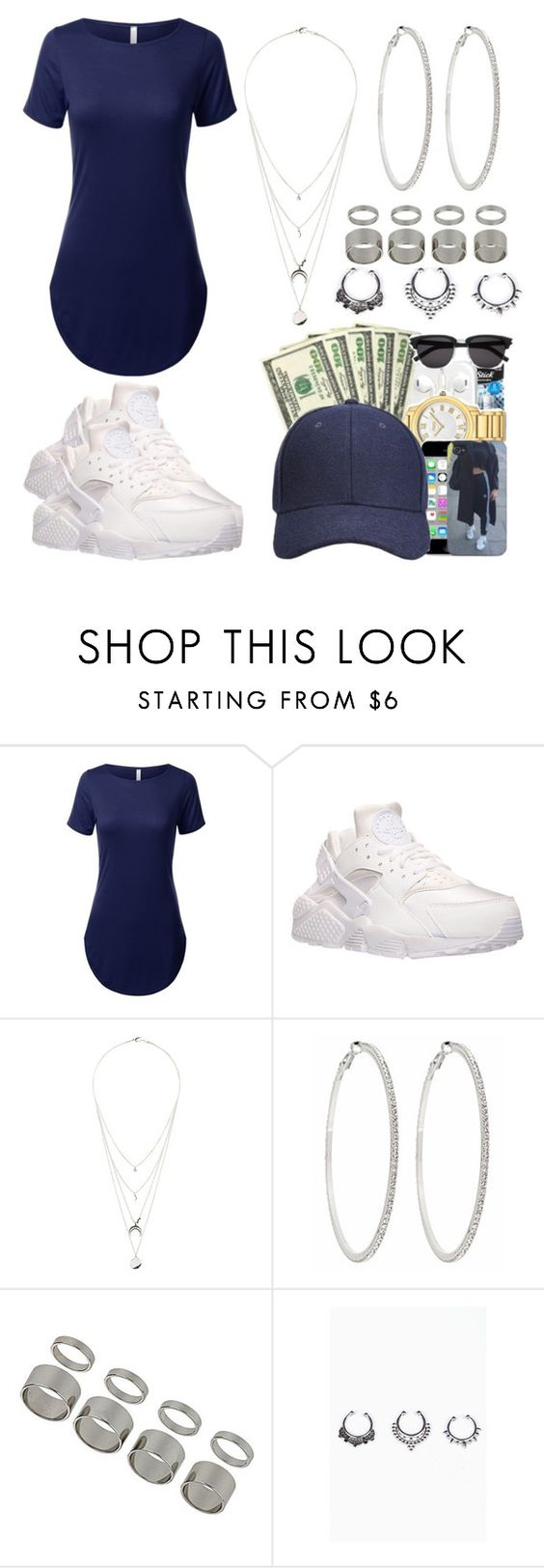 """Coffee~Miguel"" by life957 ❤ liked on Polyvore featuring NIKE, Charlotte Russe, Roberta Chiarella and Topshop"