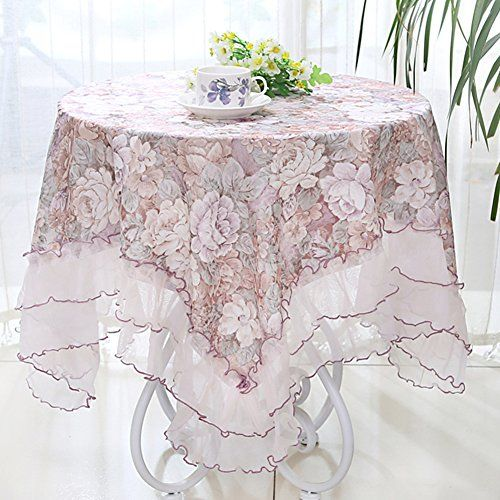 Square Fabric Tablecloth Table Cloth Rectangular Lace Small