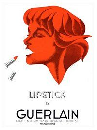 AP1374 - Lipstick By Guerlain, Art Deco Cosmetics Advert, 1930s (30x40cm Art Print)