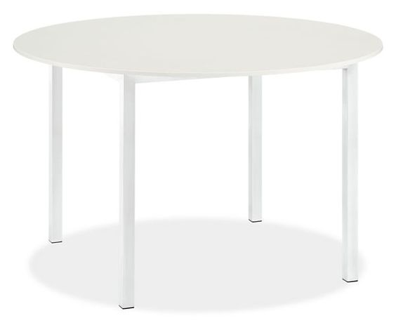 Room board pratt 48r dining table with white quartz for Quartz top dining table