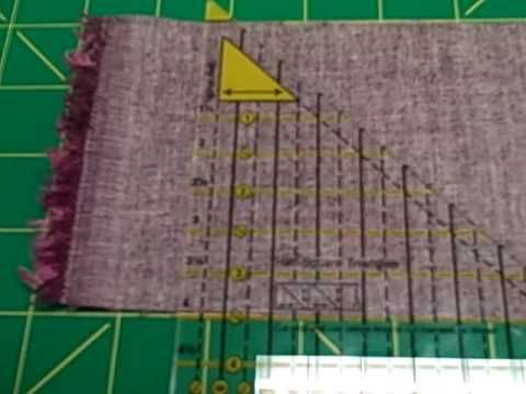 How to make half square triangles with the fons and porter half and