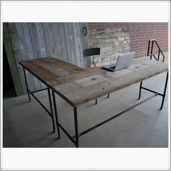 l shaped reclaimed wood desk modern office furniture urban wood shaped wood desks home