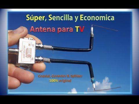 Super Sencilla Y Economica Antena Para Tv Coaxial Conector Splitter Original Youtube In 2020 Tv Antenna Smartphone Repair Antenna