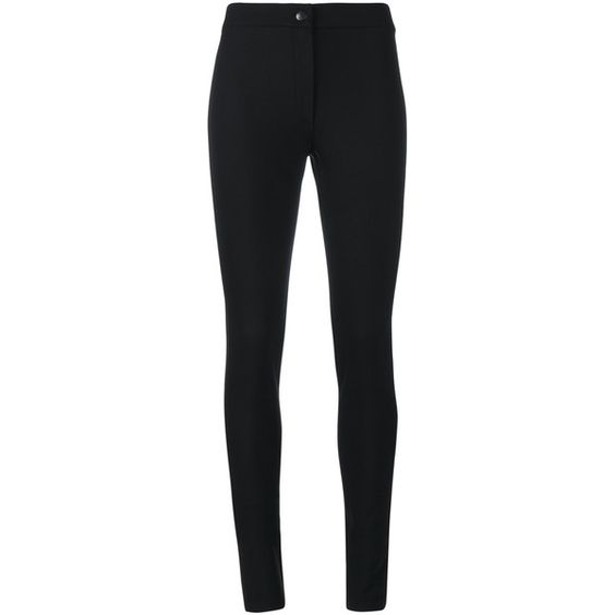 Ann Demeulemeester Slim-Fit Trousers (2,405 MYR) ❤ liked on Polyvore featuring pants, black, skinny fit pants, wool blend pants, skinny pants, ann demeulemeester and super skinny pants