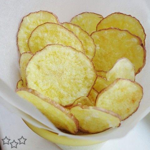 Receta para hacer deliciosas patatas chips en microondas. Una receta fácil de hacer y sobre todo saludable.