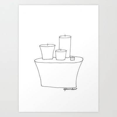 """candles"" Art Print by ayamiichino - society6- $18.00"