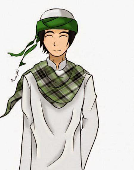 7 Gambar Kartun Muslim Pria Sholeh Yang Lucu Gambar Kartun Orang Animasi
