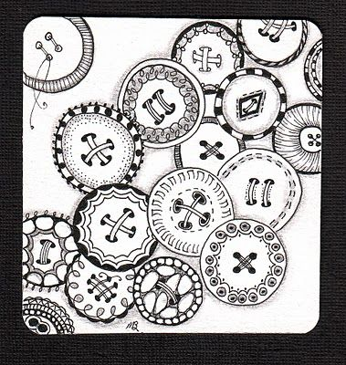 button zentangles: Art Zentangle, Zen Doodle, Zentangles Doodle, Button Zentangle, Zentangle Doodle, Zentangle Doodles, Zentangle Button