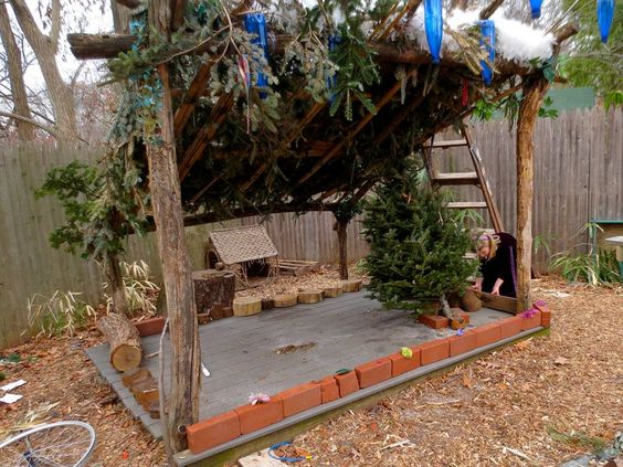 Spring cleaning and the perfect house with ice-glass walls. You have to have magic power to get inside — at Takoma Park Cooperative Nursery School ≈≈