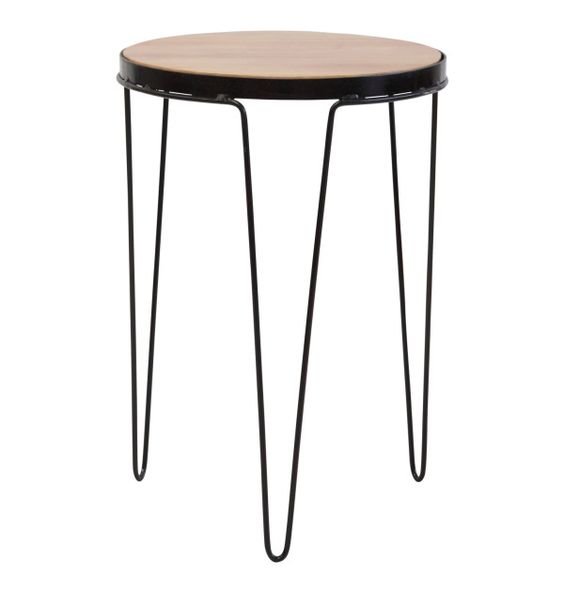 Round About Side Table Black