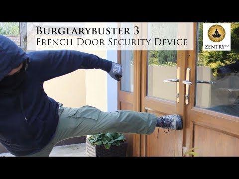 Burglarybuster 3 French Door Lock For Opening Inwards French Doors Youtube Double Front Doors French Doors Security French Doors