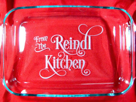 """Personalized 9""""x13"""" Pyrex Baking Dish, From the Kitchen"""