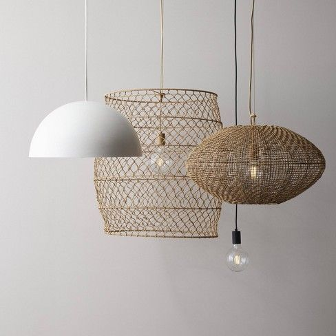 Rope Net Pendant Lamp Includes Energy Efficient Light Bulb