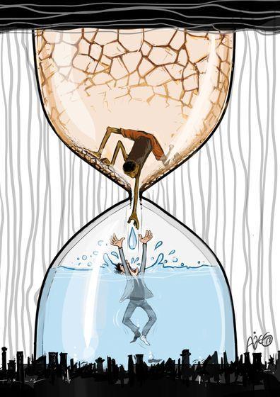 Woodyfundiver Cartoons Op Twitter Climate Change Art Save Water Poster Drawing Global Warming Art