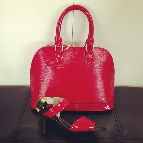 kelly brown and mina martini  red patent love