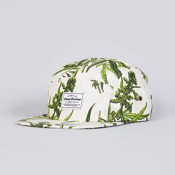 Grand Scheme Maui Wowie 5 Panel Camp Cap Natural (£35.00) - Svpply