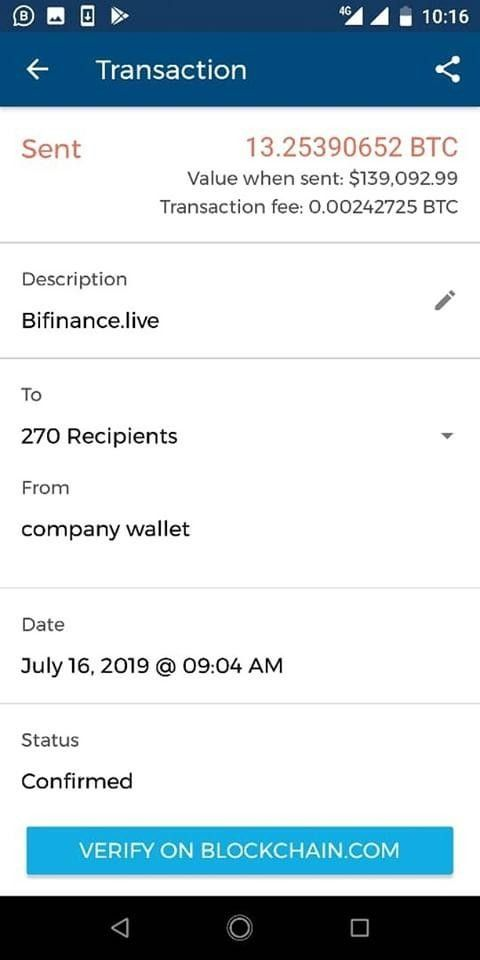 bitcoin proof of payment