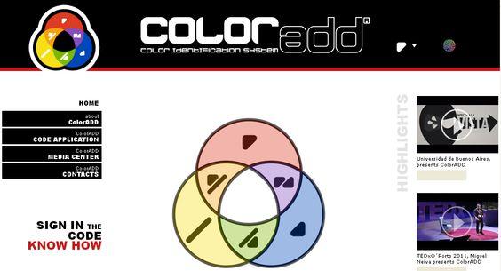 Código para daltónicos - http://www.coloradd.net/
