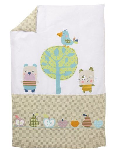 Housse de couette b b collection bio th me fruity - Housse de couette bebe ...