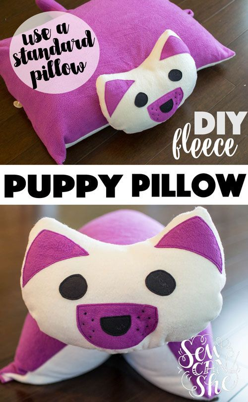 Sew A Cute Puppy Pillow Softie : DIY Puppy Pillow {free sewing pattern - for a standard bed pillow} Sewing patterns, Free ...