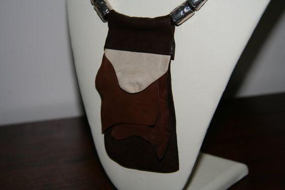 Leather Bib Necklace by Beauje on Etsy, $90.00