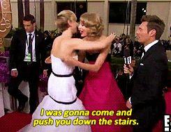 Pin for Later: Les 24 Fois Où Nous Avons Souhaité Etre Jennifer Lawrence Quand elle a taquiné Taylor Swift en direct live Ouep.