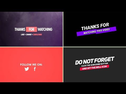 5 Youtube Thanks For Watching Template Outro Template For Free No Copyright Easy To Use Youtube Youtube Logo Thankful Templates