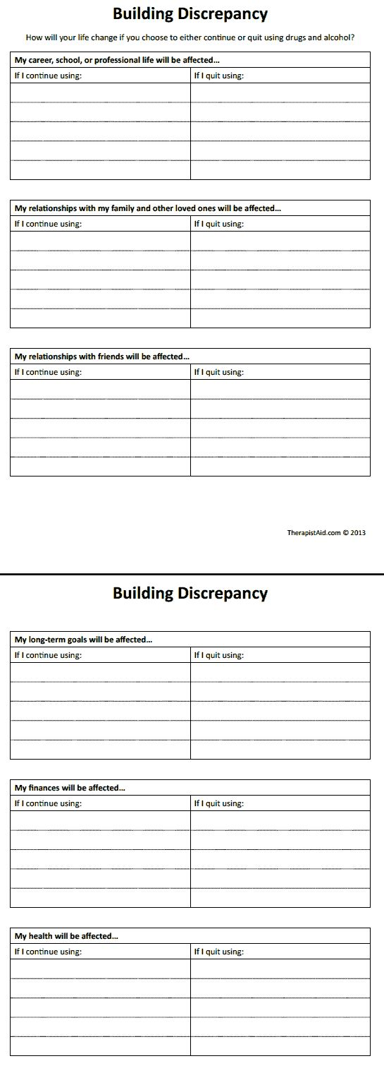 Worksheets Substance Abuse Worksheets building discrepancy this could be used for any pattern by removing the word using techniques pinterest patterns an
