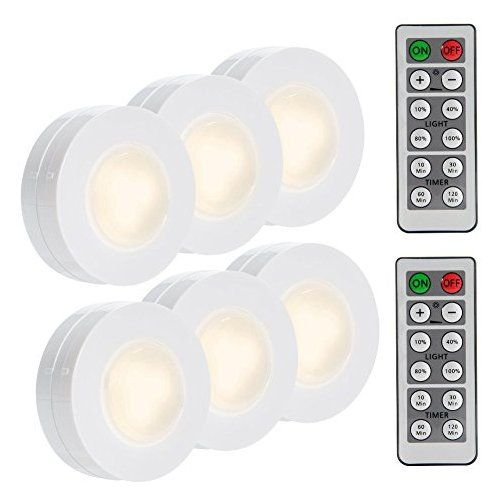 Lunsy Wireless Led Puck Lights Closet Lights Battery Operated With Remote Control Kitchen Und Led Puck Lights Under Cabinet Lighting Wireless Closet Lighting