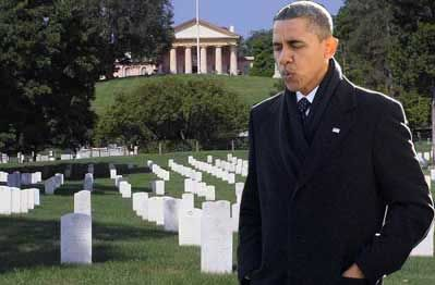 BEWARE and BE WATCHFUL:  A 'STAGED' CRISIS leading to SUSPENDED elections could happen on our watch.    It is one of the 'plans' in the Obama planbook.   click to read    Obama whistling past the cemetery, CFP Photoshop by Brian Thompson