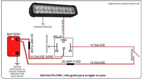 Relay 12v para luces