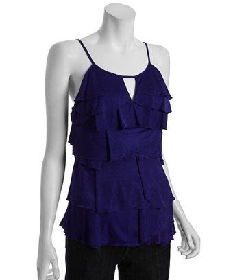 BCBGMAXAZRIA regal tiered ruffle layered top | BLUEFLY up to 70% off designer brands at bluefly.com