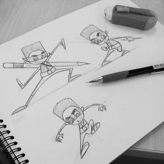 #characterdesign #skecth #superlapiz #cartoon #character  Diseño de personaje al estilo cartoon.