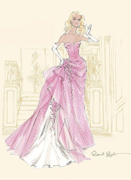 Barbie A Fashion Fairytale Dresses Sketches 2015 Barbie Calendar S...