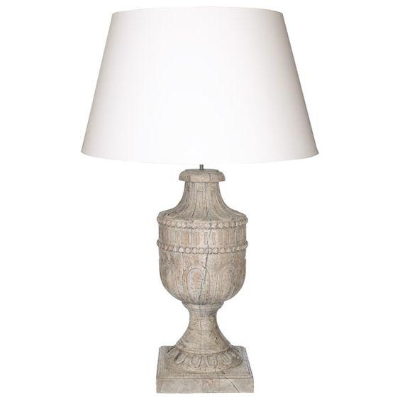£295 Speedwell Lamp - Weathered Acacia