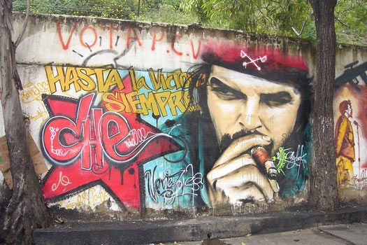 Che Guevara and South America: Street Art in Caracas, Venezuela. Photo by geya…