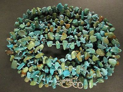 "Sterling silver 925 toggle TURQUOISE nugget NECKLACE SX HAND KNOTTED 88"" Vtg https://t.co/Dx1lqhBlVC https://t.co/a6eQoH8kCV"