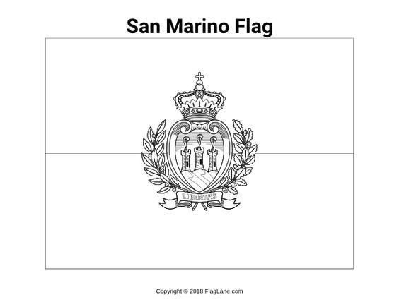 Free Printable San Marino Flag Coloring Page Download It At Https