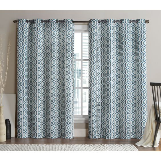 VCNY Alexander 84-inch Blackout Printed Curtain Panel Pair by VCNY ...