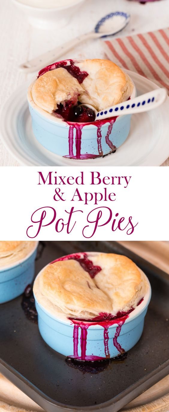 This 4 ingredient pot pie is a twist on the traditional blackberry and apple pie. Vegan too.