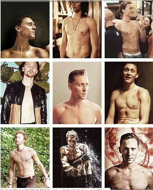 Tom Hiddleston ~ In all his shirtless glory!
