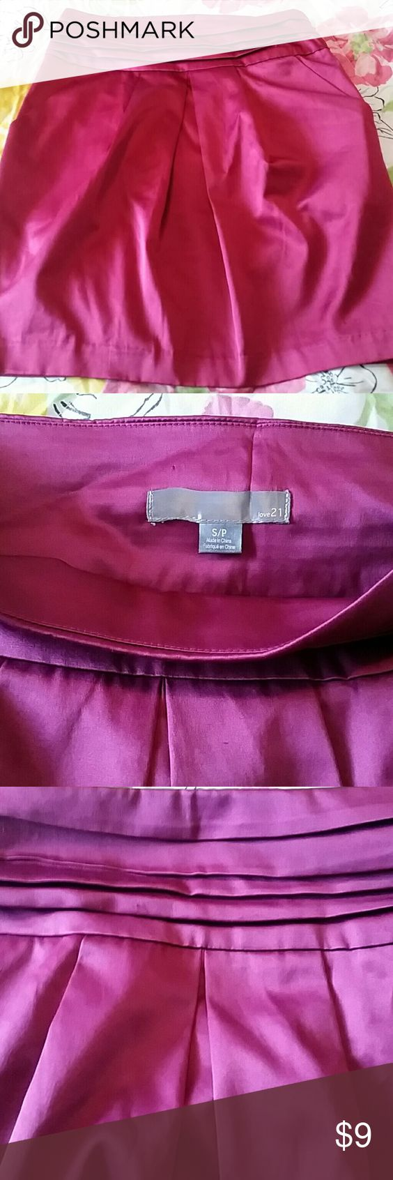 Sexy magenta skirt Good condition Other