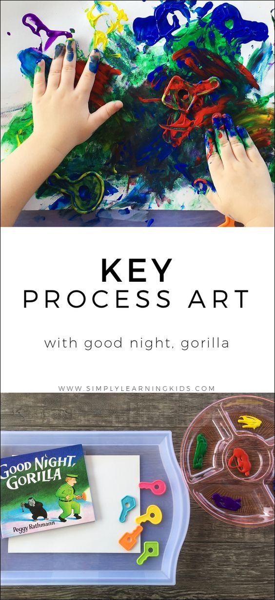 Key Process Art With Good Night, Gorilla - Simply Learning
