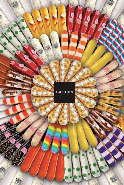 "Fauchon, Paris. Colors of ""gourmandise"". Choux pastry class in english in Paris: www.patisseriealacarte.com"