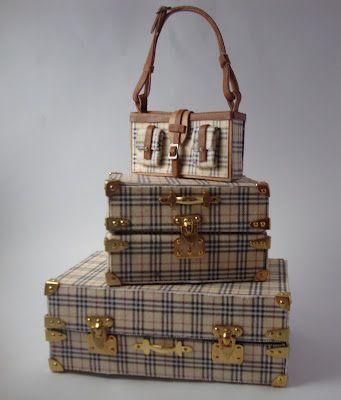 Miniaturas bolsos: Bolsos estampado cuadro inglés
