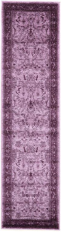 Purple Classic Tri-Color Area Rug