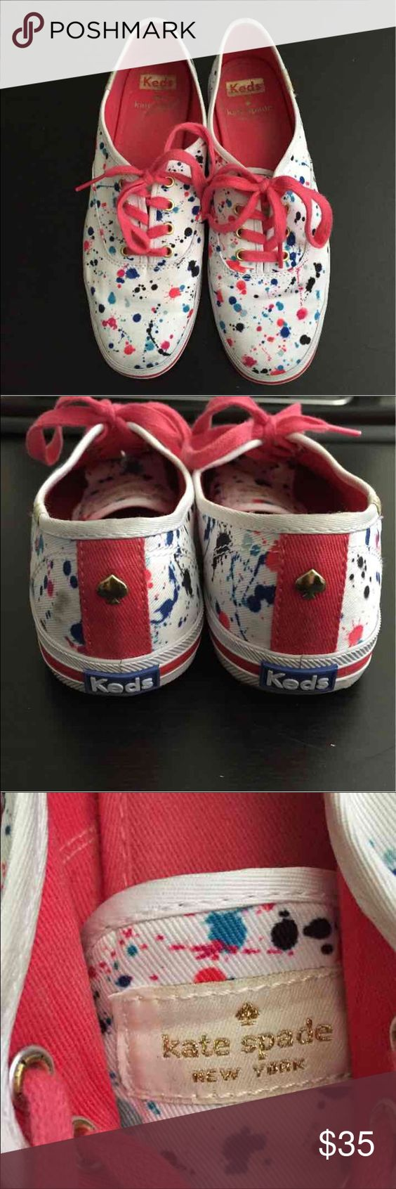 Kate Spade sneakers by Keds Super cute Kate Spade edition by Keds. In Very Good condition. Keds Shoes Sneakers