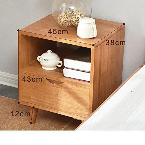 Ewygfrfvqas Solid Wood Bedside Table Bedroom Bedside Cabinet