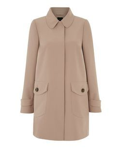 Camel Crepe Dolly Coat  | New Look