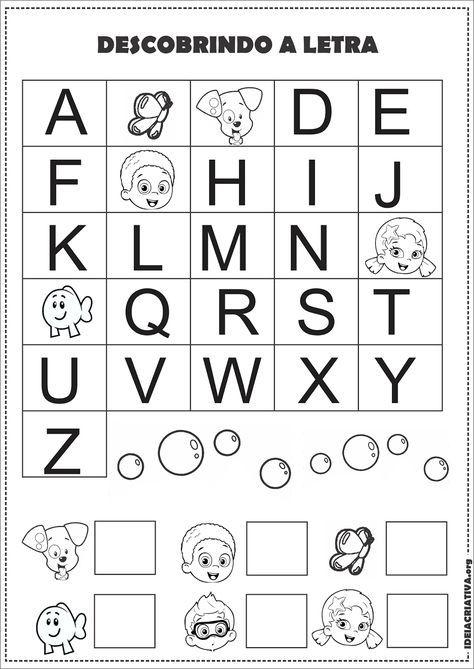 Atividade Alfabeto Sondagem Volta As Aulas Bubble Guppies